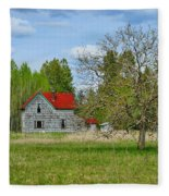 Old Farm House In Langley Fleece Blanket
