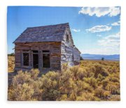 Old Farm House Widtsoe Utah Ghost Town Fleece Blanket