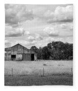 Old Farm Scene Fleece Blanket