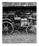 Old Farm Tractor Fleece Blanket