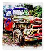 Old Farm Truck Fleece Blanket
