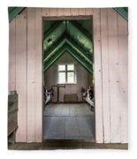 Old Farmhouse Interior Iceland Fleece Blanket