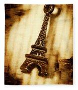 Old Fashion Eiffel Tower Souvenir Fleece Blanket