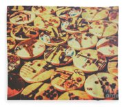 Old Fashion Landmark Buttons Fleece Blanket