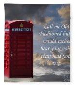 Old Fashioned Fleece Blanket