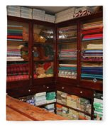 Old-fashioned Fabric Shop Fleece Blanket