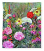 Old Fashioned Garden Fleece Blanket