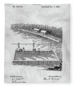 Old Ferryboat Patent Fleece Blanket