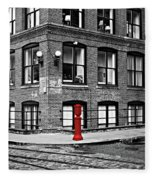 Old Fire Hydrant In Dumbo Brooklyn Fleece Blanket
