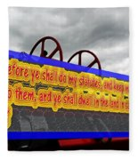 Old Fire Truck With Text 3 Fleece Blanket
