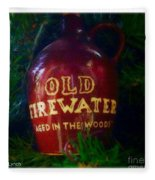 Old Firewater Aged In The Woods Fleece Blanket