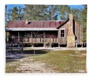 Old Florida Cracker Home Fleece Blanket