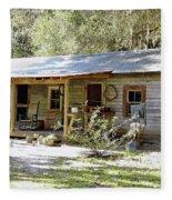 Old Florida Home Fleece Blanket