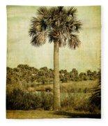 Old Florida Palm Fleece Blanket