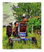 Old Ford Tractor Fleece Blanket