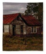 Old Forgotten Farmstead Fleece Blanket