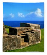 Old Fort Steps Fleece Blanket