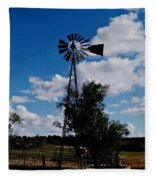 Windmill Color  Fleece Blanket
