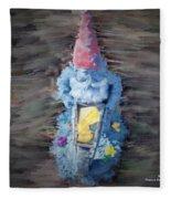 Old Garden Gnome Fleece Blanket