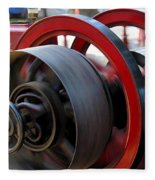Old Gas Engine With Digital Effects Fleece Blanket