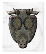 Old Gas Mask Fleece Blanket