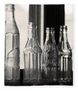 Old Glass Bottles Fleece Blanket