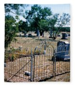 Old Grave Site 2 Fleece Blanket