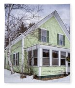 Old Green And White New Englander Home Fleece Blanket