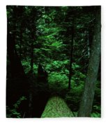 Old Growth Forest At Lost Lake On Mount Hood Fleece Blanket