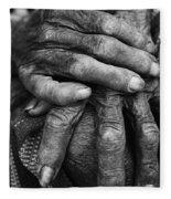Old Hands 3 Fleece Blanket