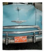 Old Havana Cab Fleece Blanket