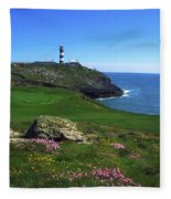 Old Head Of Kinsale Lighthouse Fleece Blanket
