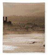 Old Hermosa Beach Fleece Blanket