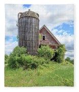Old Historic Barn In Vermont Fleece Blanket