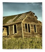 Old Home Falling In Fleece Blanket