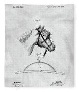 Old Horse Blinker Patent Fleece Blanket