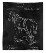 Old Horse Harness Patent  Fleece Blanket