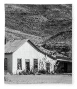 Old House And Foothills Fleece Blanket