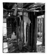 Old House Interior Construction Fleece Blanket