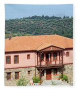 old house Sithonia Greece summer vacation scene Fleece Blanket
