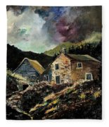 Old Houses 5648 Fleece Blanket