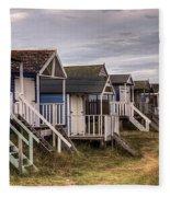 Beach Huts At Old Hunstanton Fleece Blanket