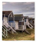 Beach Huts At Old Hunstanton Fleece Blanket