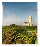 Old Hunstanton Lighthouse North Norfolk Uk Fleece Blanket