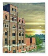 Old Imperial Brewery In Kansas City Fleece Blanket