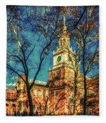 Old Independence Hall Fleece Blanket