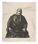 Old Irish Woman, First State By George Bellows Fleece Blanket