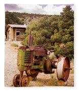 Old John Deer Tractor Fleece Blanket