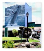 Old Kauai Village Clock Tower Fleece Blanket