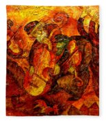 Old Klezmer Band Fleece Blanket
